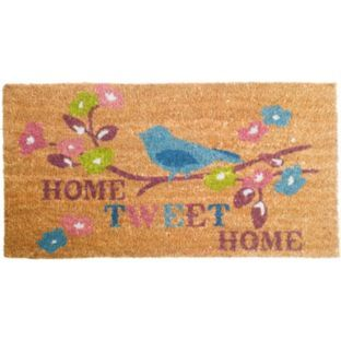 Buy Home Tweet Home Doormat - 70x40cm - Natural at Argos.co.uk - Your Online Shop for Rugs and mats.
