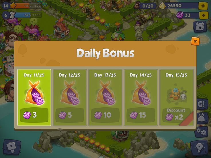 Adventure Era | Daily Bonus | UI HUD User Interface Game Art GUI iOS Apps Games | www.girlvsgui.com