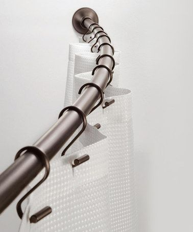 Another great find on #zulily! Bronze Adjustable Curved Shower Curtain Rod #zulilyfinds