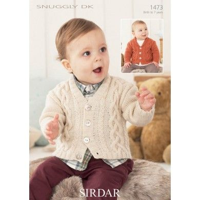 Cabled Childrens Cardigan in in Snuggly DK - 1473 - Babies - For - Patterns