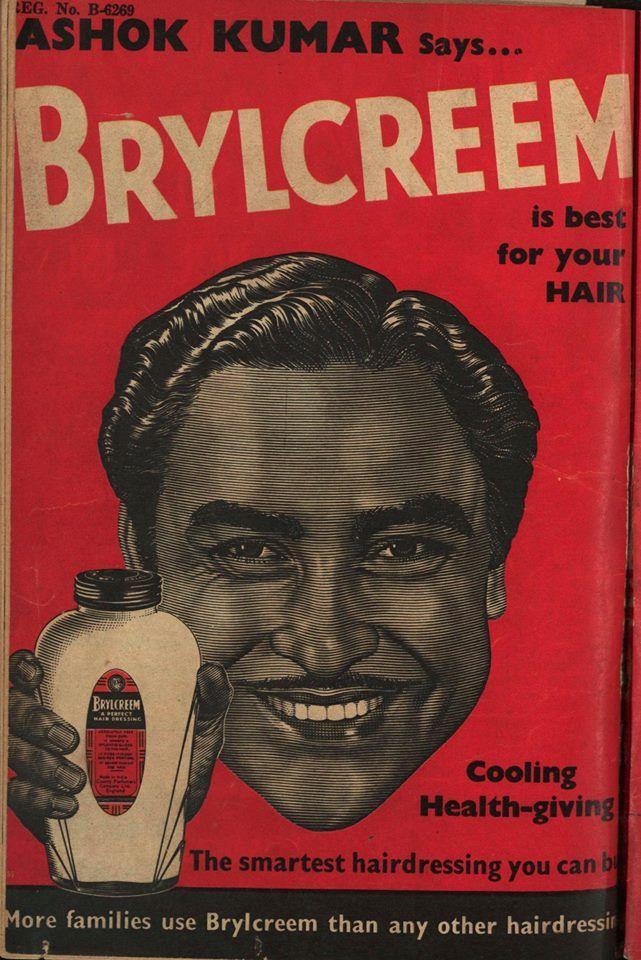 Ashok Kumar in #Brylcreem advertisement. Follow बॉलीवुड डायरेक्ट Bollywoodirect