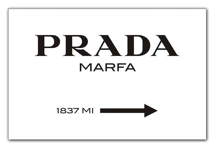 Amazon.de: Prada Marfa Leinwandbild-Bild wie aus Gossip Girl . Bild . Poster . Viel günstiger als ich dachte!