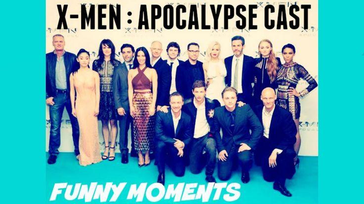 X-Men Apocalypse Cast - Funny Moments Part 1