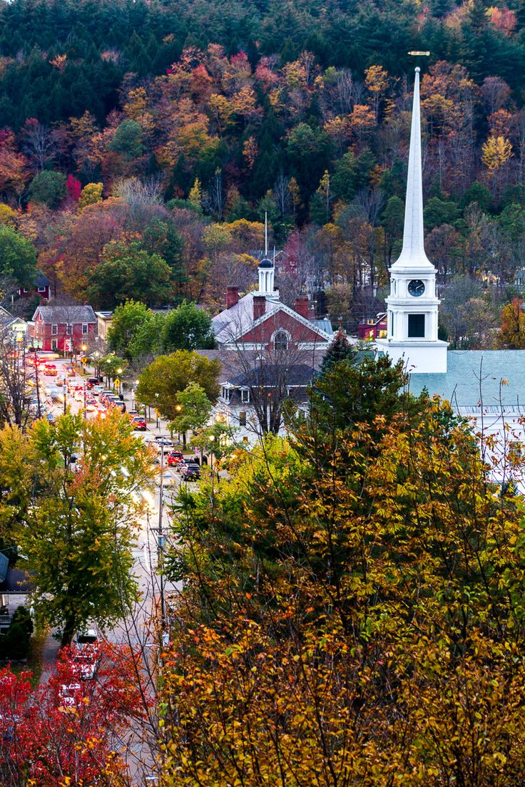 Beautiful town of Stowe in Vermont, New England. #Stowe #Vermont #NewEngland