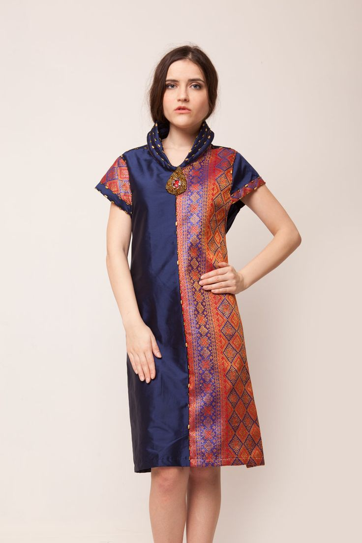 Navy Songket Dress