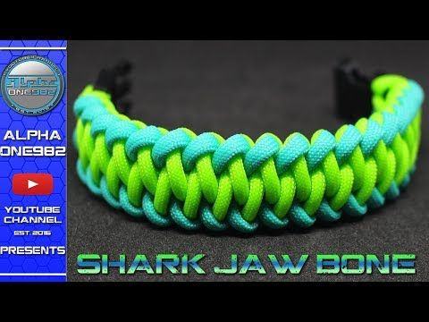How To Make a Paracord Bracelet Modified SHARK Jaw Bone - How to tie - DIY - Tutorial - YouTube