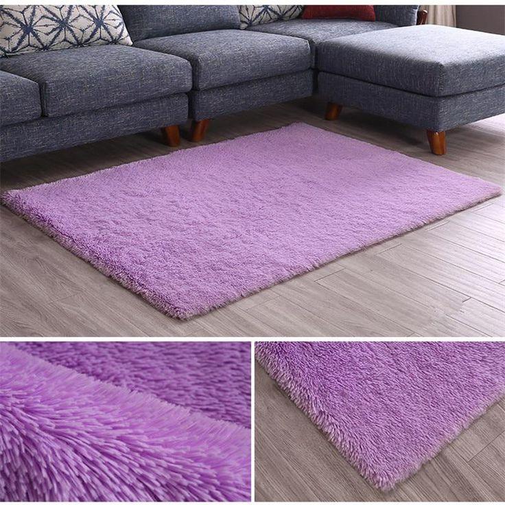 Nordic silk carpet living room sofa coffee table m…