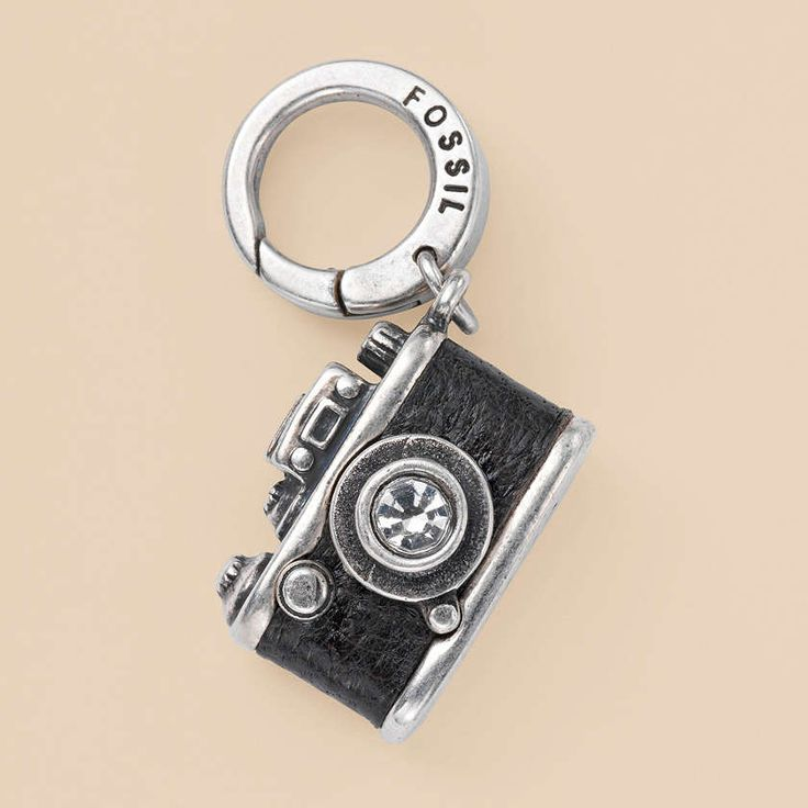 Fossil Camera Charm.  I'm not into charm bracelets, but Fossil also makes great leather necklaces with a ring for charms.  I could do that.