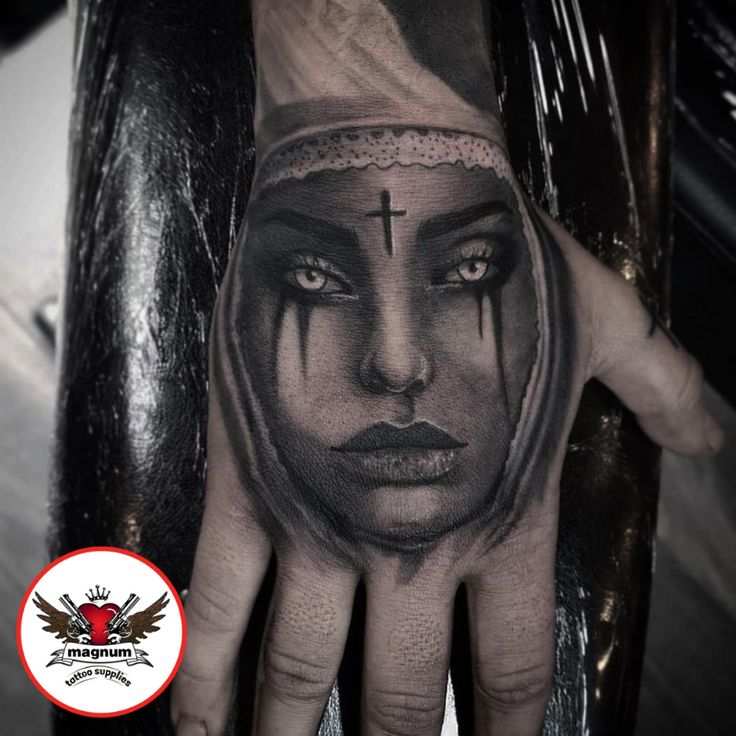Sick hand piece by amy ellis using magnumtattoosupplies