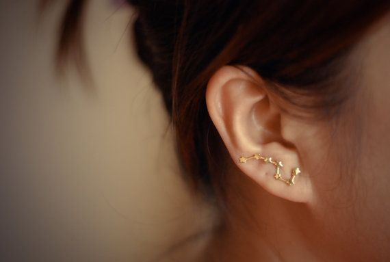 Big Dipper Constellation Gold-Plated Sterling Silver by arajera