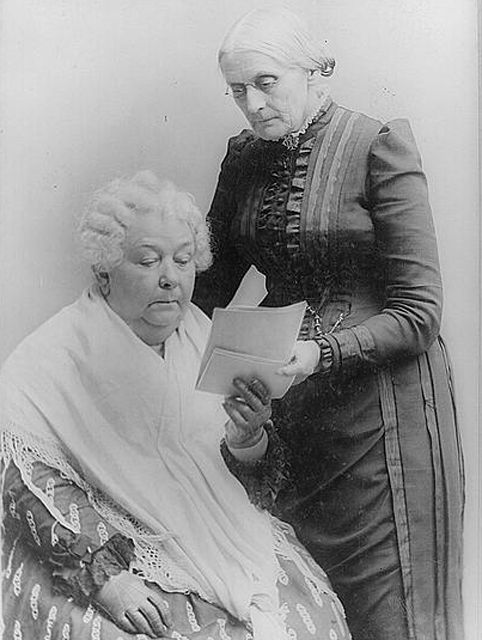 November 12, 1815: Elizabeth Cady Stanton is Born    On this day in 1815, abolitionist and women's rights leader Elizabeth Cady Stanton was born in Johnstown, New York.     In the early 1850s, Stanton and Susan B. Anthony developed a deep friendship and common goal to change women's rights.  During the Civil War, Stanton and Anthony formed the Women's Loyal National League, the first national women's political organizatio