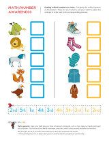 Give your child practice ordering the ordinal numbers from first through fifth!