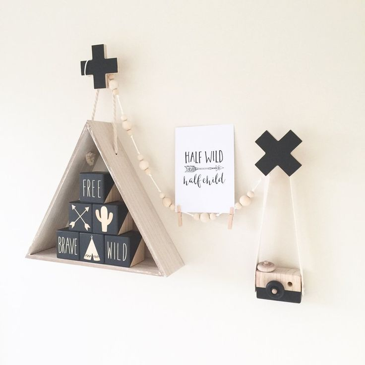Wooden Toy Camera - Black Ace