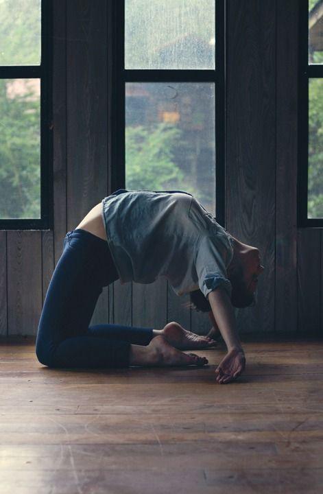 Yoga back bend.