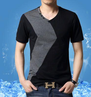 Oem 2014 últimos diseños de camisetas para hombres con cuello en v camisetas fabricantes de china camiseta-Hombre Camisetas-Identificación del producto:2016110221-spanish.alibaba.com