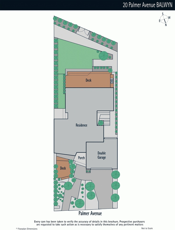 The floor plans to Balwyn House