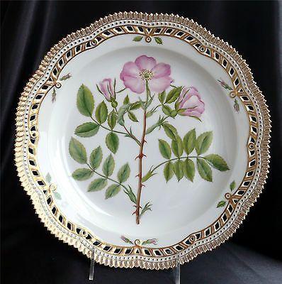 Royal-Copenhagen-Flora-Danica-11-25-Platter-Rosa-Villosa-3574-Pierced