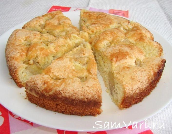 Шарлотка с бананами  Шарлотка с бананами - это очень вкусный, ароматный и простой в приготовлении домашний пирог. Сливочное масло делает бисквит сочным,... - SamVari.ru - Google+