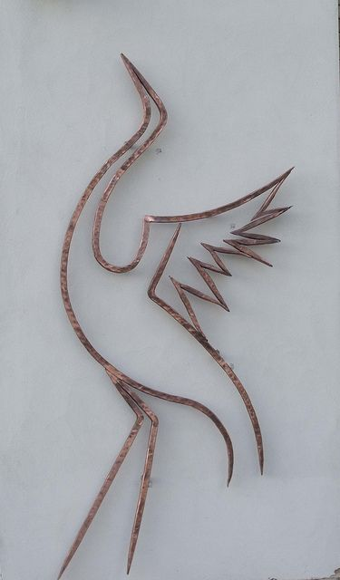 Copper Crane by Adrian The Smith at Trinity Forge, via Flickr