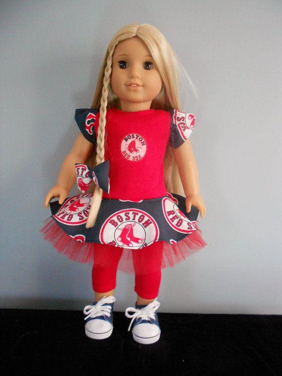 Boston Red Sox's American Girl by DollFashionsbyLinda on Etsy
