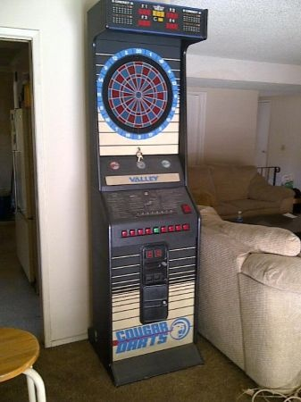 Coin Operated Dart Machine Board Arcade Used In L A 300