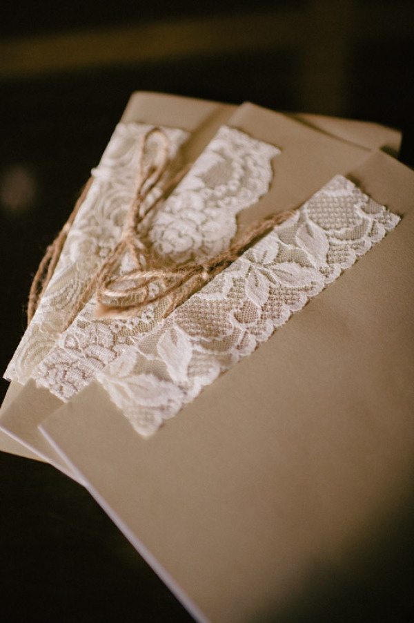 Lace and twine.