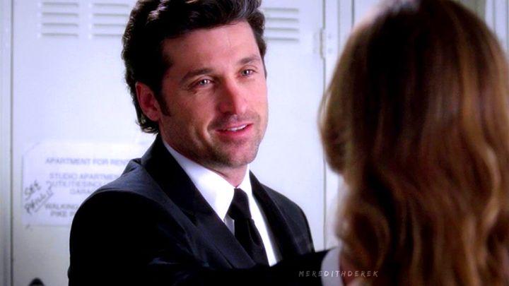 """""""Meredith, io ti amo, non lo vedi? Non lo capisci? Sei l'amore della mia vita, non posso lasciarti, ma tu mi lasci continuamente, te ne vai quando vuoi, torni quando vuoi..Non lo fai con tutti, non lo fai con i tuoi amici..solo con me. Quindi voglio chiederti se non vedi un futuro per noi, se non sei coinvolta, ti prego..ti prego lasciami perchè io non ce la faccio, metti fine al mio dolore..""""  — Derek Shepherd, 3x25."""