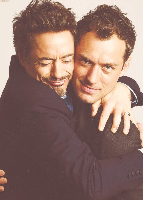 two of my favorite boys: Robert Downey Jr and Jude Law. (Yummy)