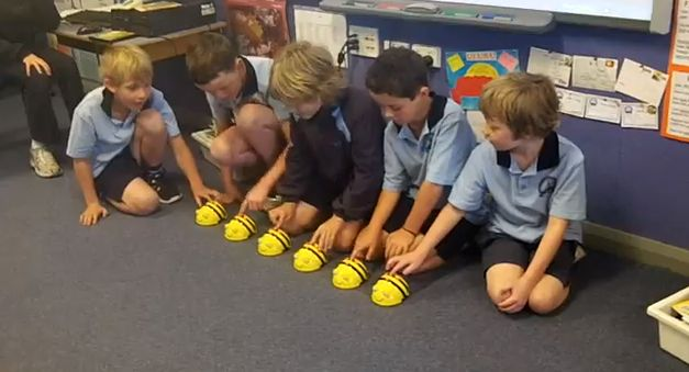 Use coding with robotics to make the robots line dance and coordinate! This would show 21st century skills!