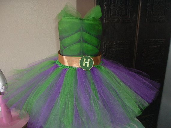 Green and Gold Hulk Costume Tutu Dress by LaraGirlsDesigns on Etsy