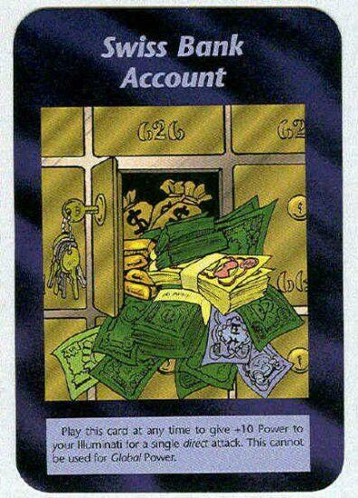 Illuminati card game - Swiss Bank Account
