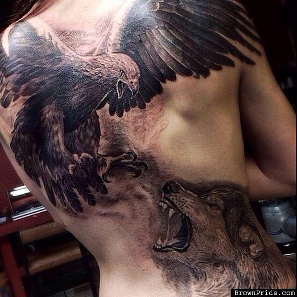 #Wolf and #Eagle #Tattoo