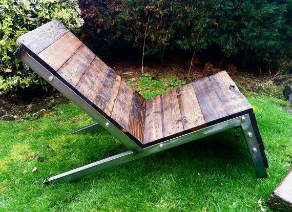 Industrial Adirondack Chair Lawn Chair Deck Chair by 22ndDesigns