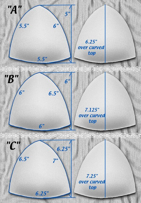 Satiné Tricot recouvert de push-up Triangle bonnets de | Etsy ...