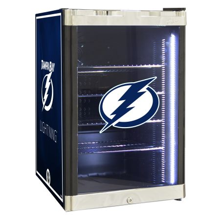 NHL Refrigerated Beverage Center 2.5 cu ft - Tampa Bay Lighting