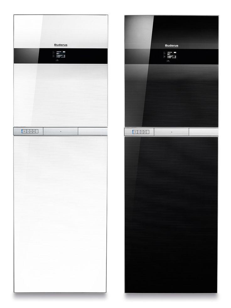 Buderus Gas-Brennwert-Kompaktheizzentrale Logaplus GB 192 iT weiß und schwarz