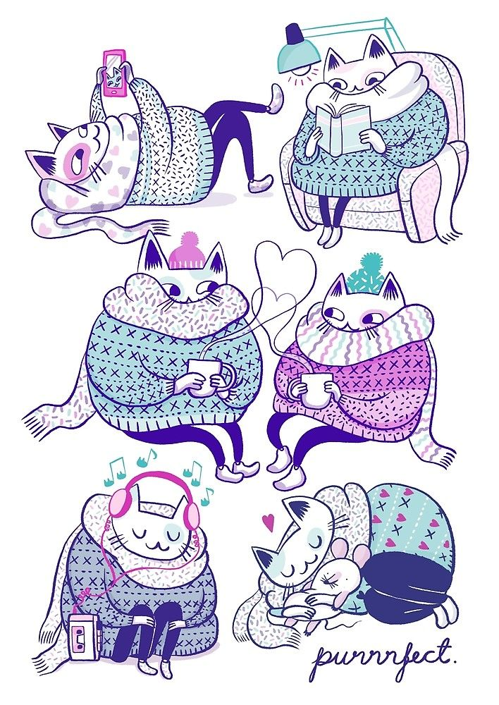 Purrrfect by Mari Ahokoivu. All kinds of products available in my Redbubble shop!