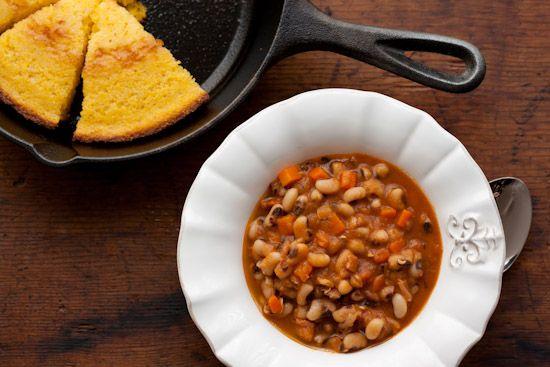 ... blackeyed black ey peas skillets cornbread smoky spices black eye peas