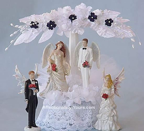 Affectionately Yours Occasion Cake Toppers and Accessories - Enchantment Fairy and Angel Wedding Cake Topper, $74.00 (http://www.affectionately-yours.com/enchantment-fairy-and-angel-wedding-cake-topper/)