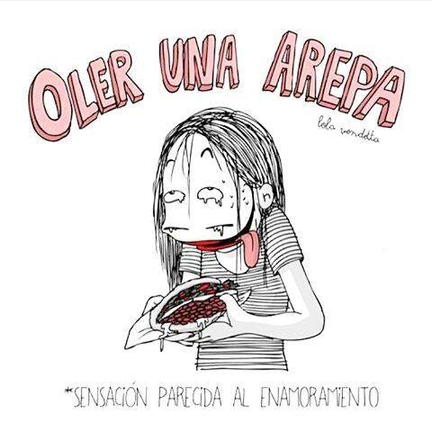 Venezolanas o colombianas? Cuáles son las mejores arepas?  Por  @lola.vendetta  #pelaeldiente  #feliz #comic #caricatura #viñeta #graphicdesign #funny #art #ilustracion #dibujo #humor #sonrisa #creatividad #drawing #diseño #doodle #cartoon #arepa