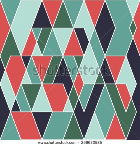 Modern seamless pattern with parallelograms and triangles. #geometricpattern #vectorpattern #patterndesign #seamlesspattern