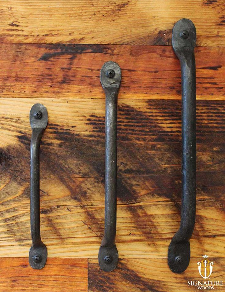 Hand wrought iron door pull these handles are made by - Wrought iron exterior door hardware ...