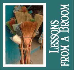 """The Scripture Lady loves creating Bible object lessons for kids! Here is one called """"Lessons from a Broom."""""""