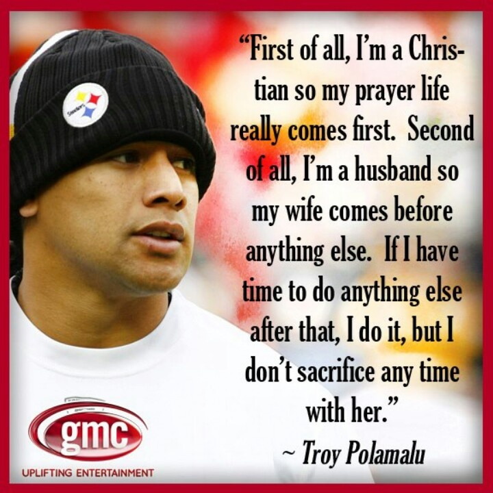 I'm not a Steelers fan, but there should be more men like him around.