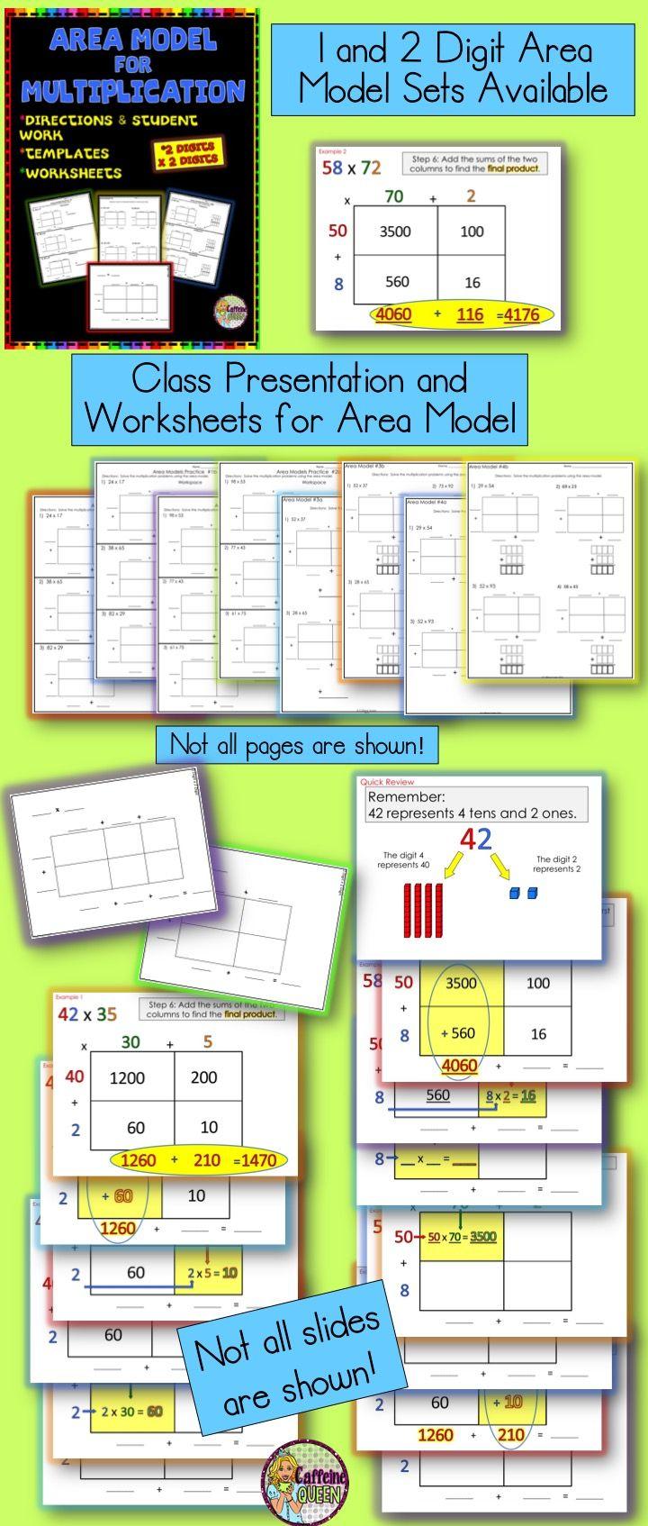 area model open array presentation and worksheets multiplication practice models and. Black Bedroom Furniture Sets. Home Design Ideas