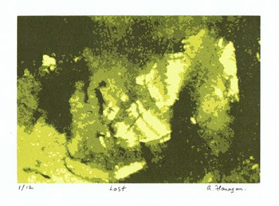 """This screenprint """"Lost"""" was created in May 2012. The print consists of 5 layers and is in an edition of 12 prints."""