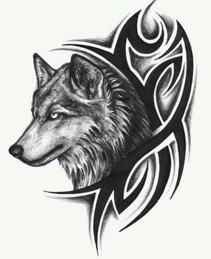 Feather Tattoo Designs: Wolf Tattoos