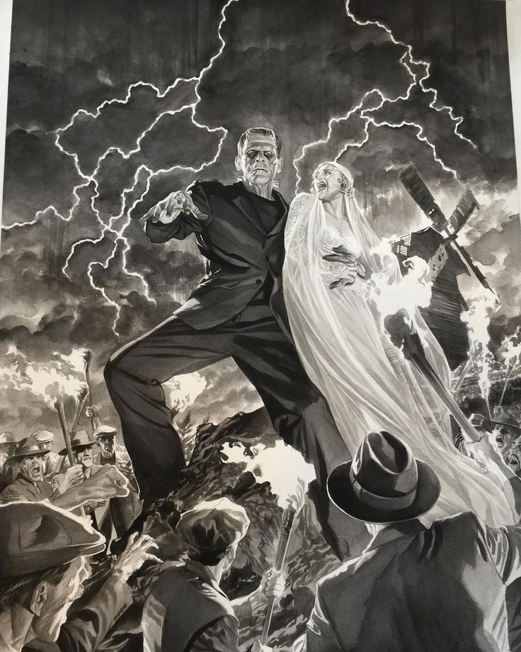 "7,514 Likes, 71 Comments - Alex Ross (@thealexrossart) on Instagram: ""#frankenstein #universalmonsters set available at #sdcc2017 #alexross booth 2415"""