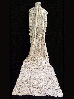 Brussels handmade mixed lace wedding veil, c.1880