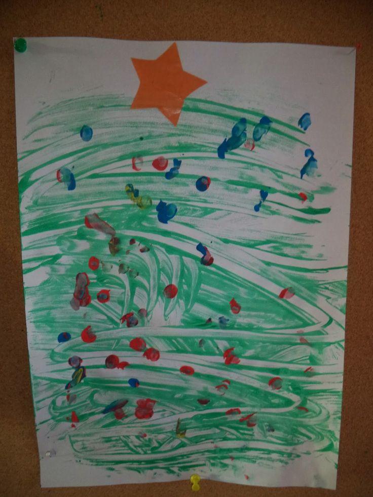 1KLA1 - Juf Evelien en klaspop Jules: Jules gaat de kerstboom versieren... schrijfdans kerstboom